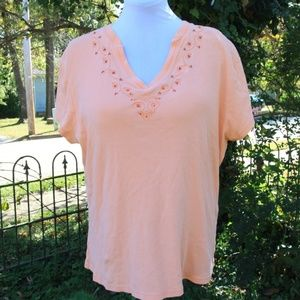 V Neck Peach Top 18/20